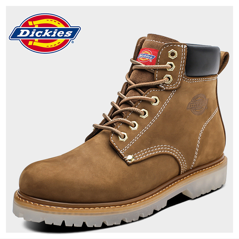 Dickies Martin boots men's Spring New Retro High Top shoes British style leather short boots with all kinds of tooling boots