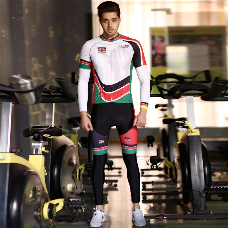 Motorcycle version cashmere pulley suit for boys and girls in autumn and winter long sleeve summer cycling suit bicycle mountain bike suit