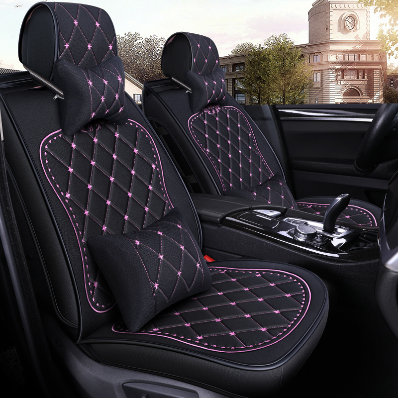Car Seat Covers For Toyota Camry Lady Cushion Summer Linen Special Cover