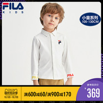 FILAFila childrens long-sleeved shirt 2020 spring autumn dress childrens baby cotton thin laper top