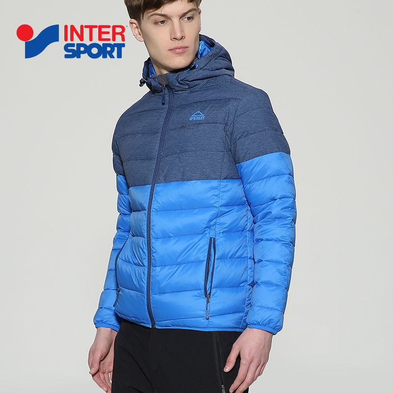 INTERSPORT men's 2018 winter sports leisure windproof warm thick hooded down jacket 256960