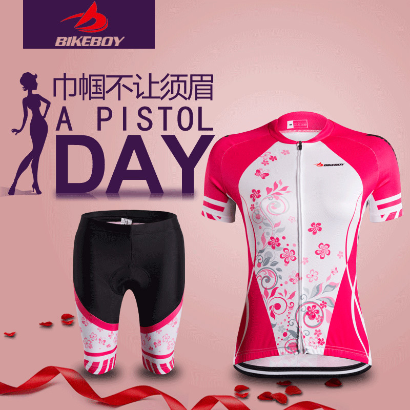 Bikeboy summer cycling suit short sleeve suit men and women mountain bike equipment bicycle cycling Suit Shorts jacket