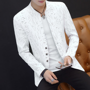 Autumn and winter men's casual suit men with cashmere slim collar jacket coat single west trend of Korean youth
