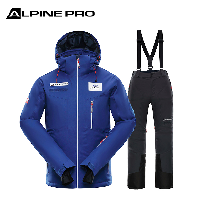 Alpine Ni autumn and winter outdoor single board plus thick warm and cold wind and rain-proof ski suit mens suit