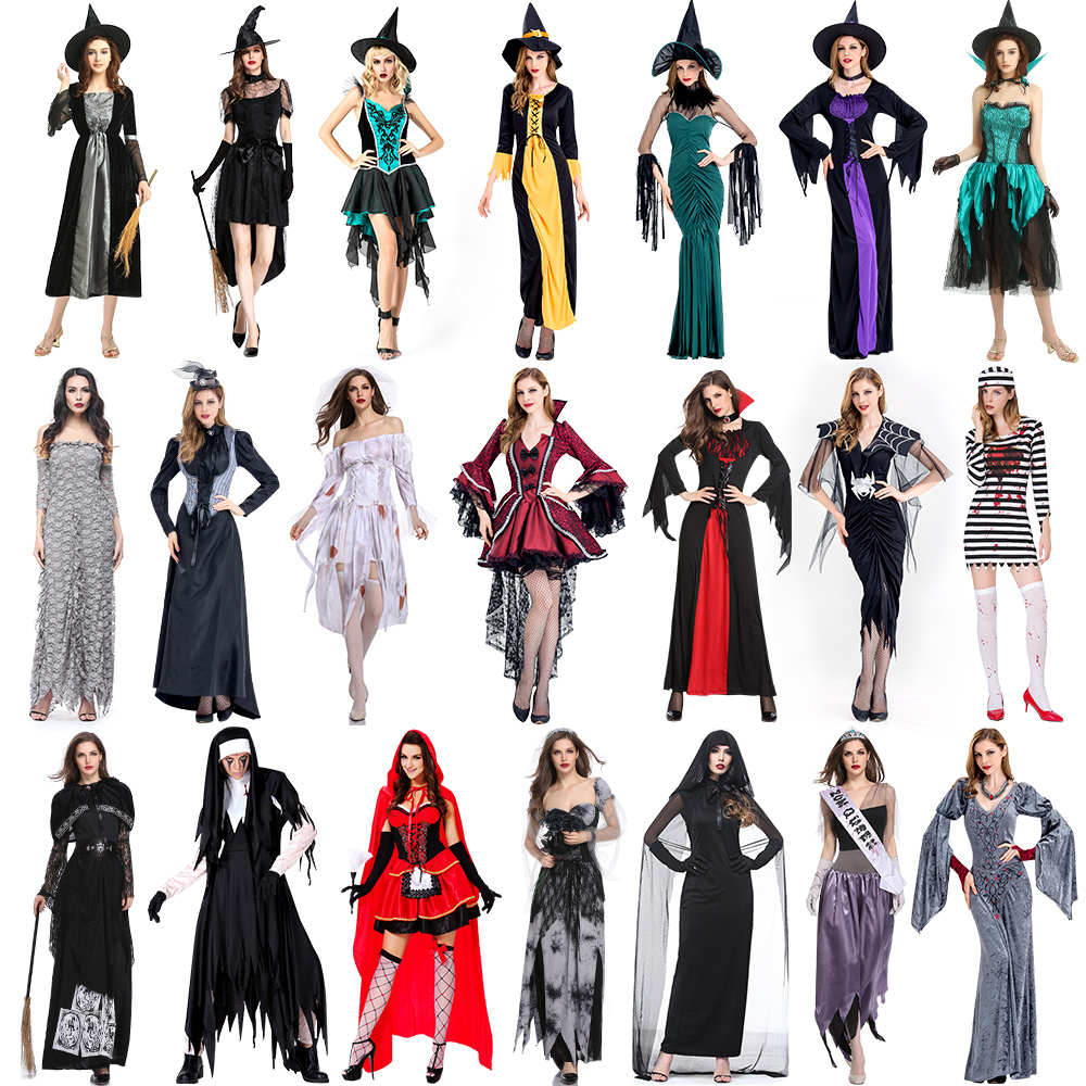 Halloween costumes for female vampire cos witch costumes make-up 殭 costumes for ghost brides