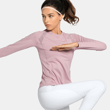 VFU Fitness Garment Mesh Air-permeable Running Sports Long-sleeved T-shirt Fast-drying Blouse Yoga Top in Autumn