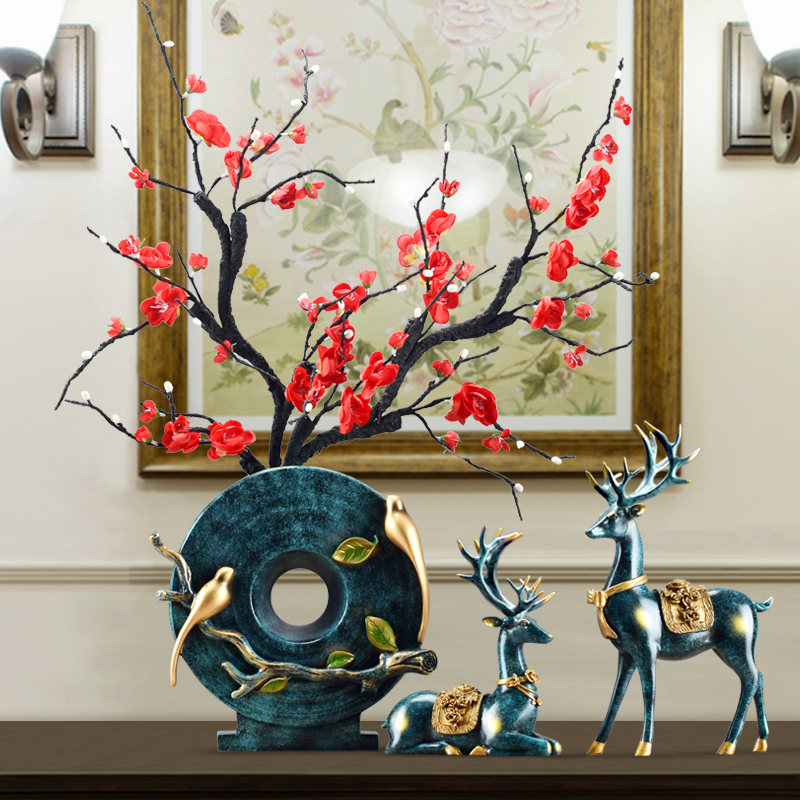 European-style creative deer ornament vases craft gift decoration living room Xuanguan TV cabinet wine cabinet decoration newly married joe move gifts