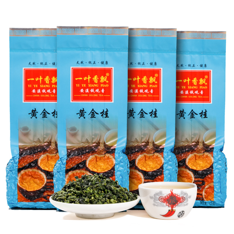 A leafy fragrance Golden osmanthus New tea Anxi specialty Oolong tea Golden tea High mountain tea Aroma 500g