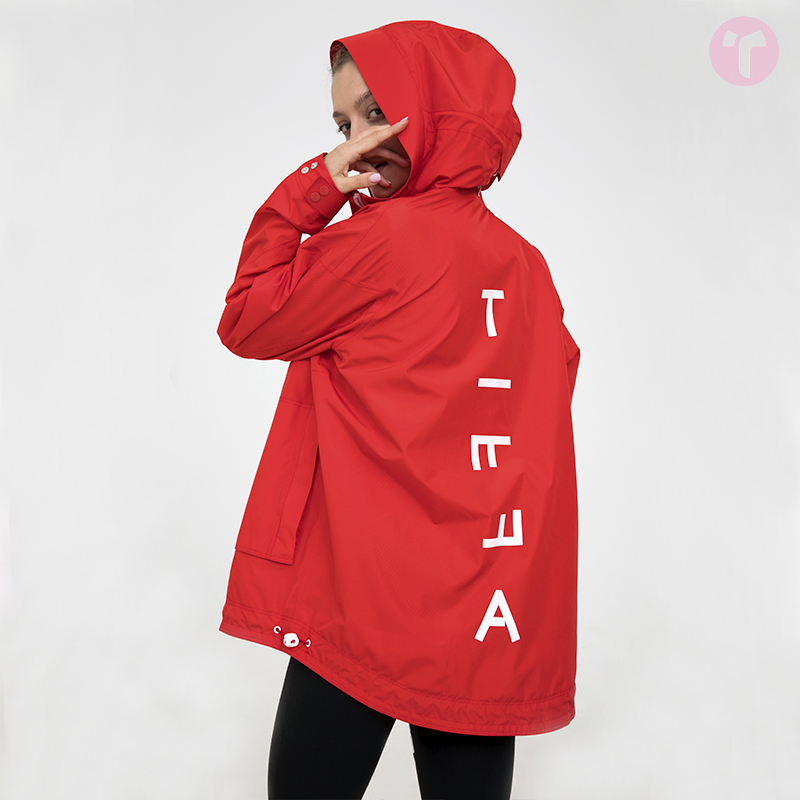 TIFFAFit/TIFFA Fit Red and White Coloured Fashion Profile Sports Cap Waterproof Windshirt Coat