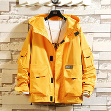 Polar jacket men's spring and autumn new Japanese large-size cap jacket men's loose-fitting casual jacket trend
