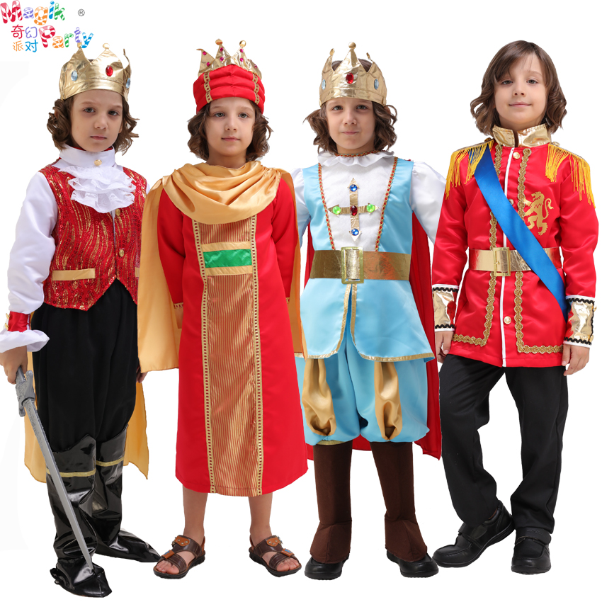 June 1 children's Day children's performance costumes Cosplay performing clothes boy Prince King Crown dress