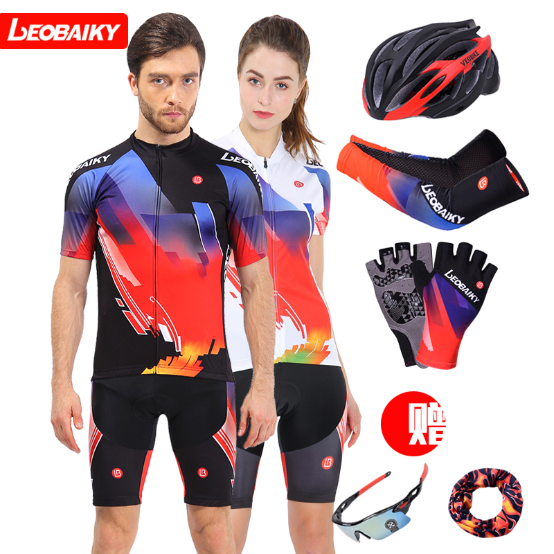 LB British brand summer cycling suit short sleeve suit men's and women's cycling suit top and shorts customization