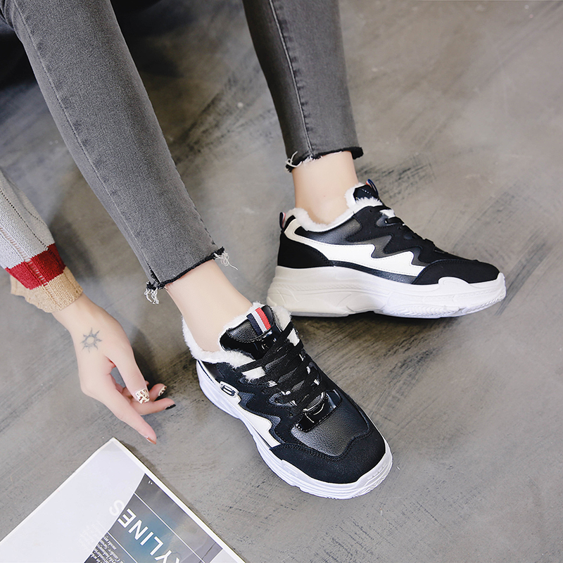 Black Daddy Shoes ins Chao Net Red Hung Bai Tan Thick-soled Sports Shoes 2019 New Korean Edition Zhifu Autumn Women's Shoes