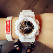 Trend ulzzang watch Korean male and female students simple leisure electronic watch digital sports waterproof