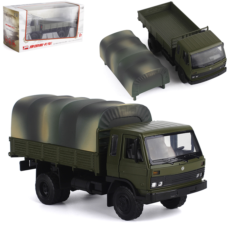 JKM Metal 1 32 Dongfeng Cummins flathead truck simulation alloy car model toy engineering transport