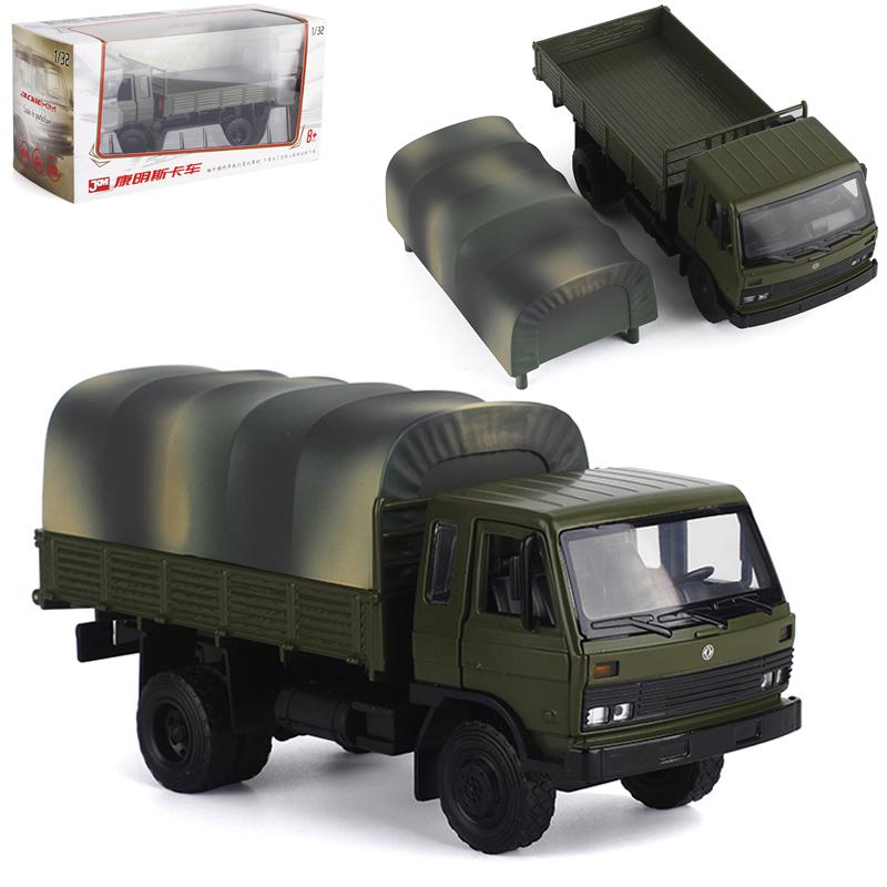 JKM Metal 1 32 Dongfeng Cummins flathead truck simulation alloy car model toy engineering transport