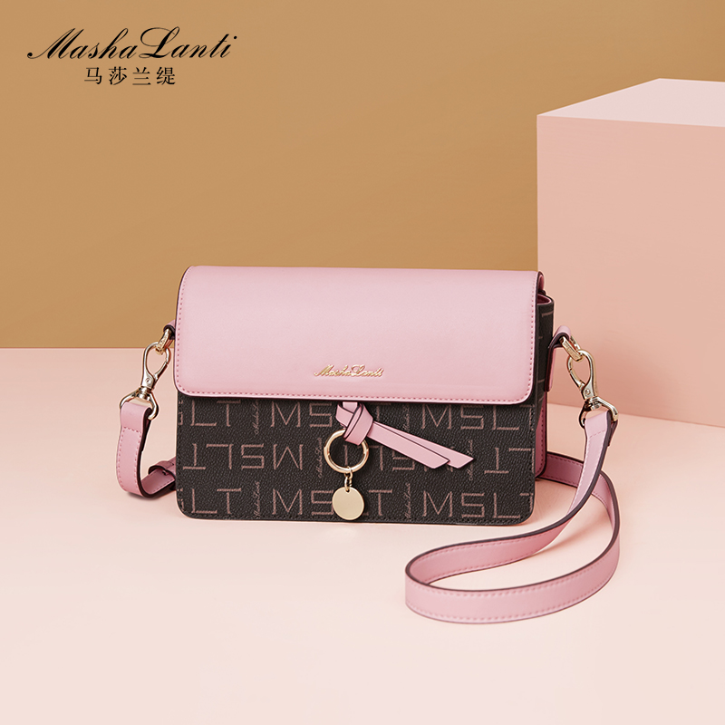 Martha Lancome 2018 new women's bag European and American fashion Messenger bag temperament wild shoulder bag small square bag female tide