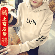 Mens 2019 new spring hooded sweater loose fleece jacket couple Korean spring and autumn fashion clothes