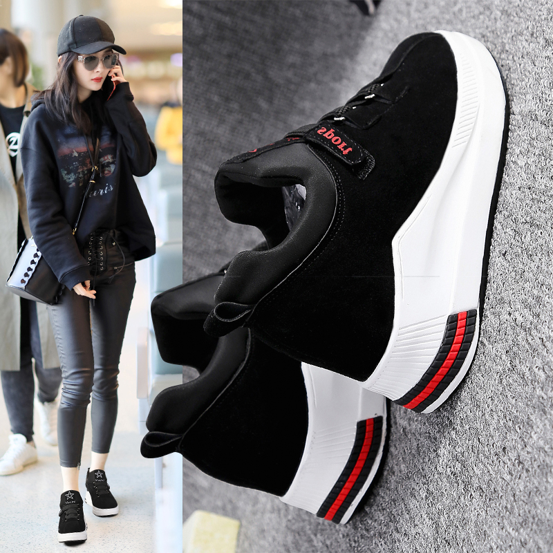 Increase in 8CM Small White Shoes 2019 Spring New Father Shoes Spring Shoes Korean Version Baitie Spring Shoes Trendy Shoes