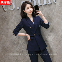 Autumn and winter new professional clothing womens suit suit fashion temperament large size formal work clothes College student interview suit