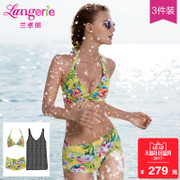 2017 new 3 piece Lanzhuoli Hawaii party swimsuit sexy Beach Spa bikinis