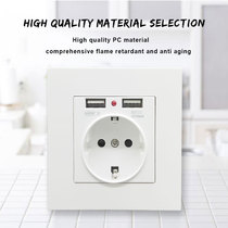 European Standard Power Socket Dual USB Mobile Phone Charging Multifunctional European Panel Household Wall Switch Korea and Germany