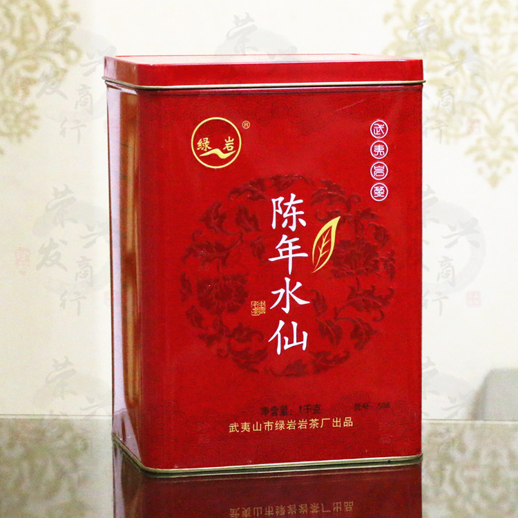 High cost performance Green Rock Chennian Narcissus Item No. 506 Wuyishan Rock Tea 1000g Red Canned