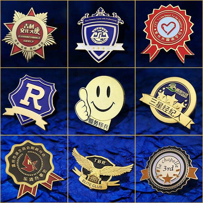 徽章定做金属胸针胸章勋章定制胸徽logo班校徽订做纪念币车友会标