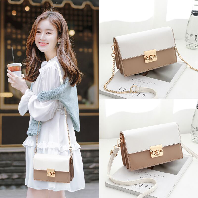 Ins Sen Department of the new slung small bag female 2018 new autumn and winter Korean version of the wild chic student fashion chain