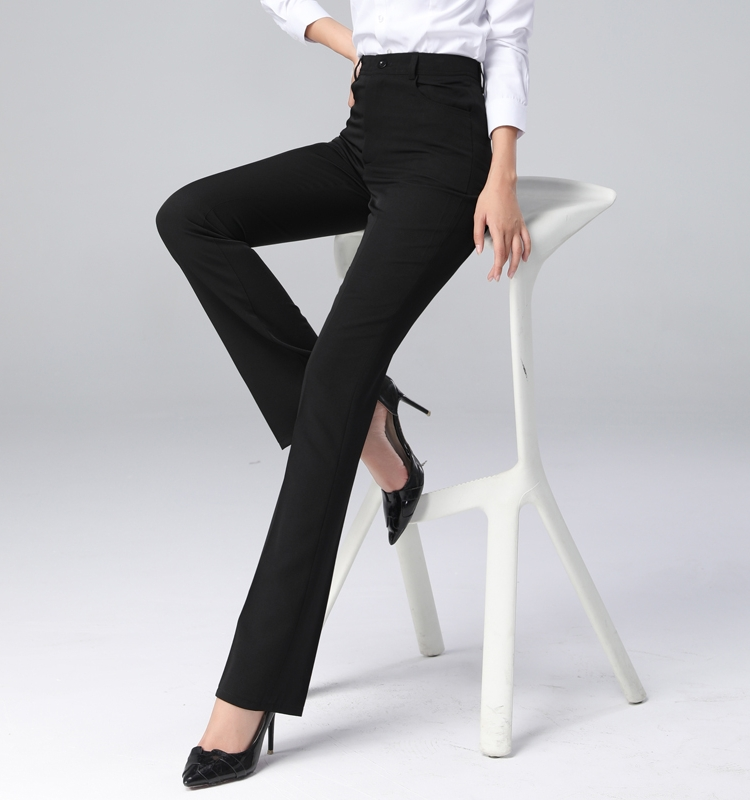 Professional suit pants Women straight high-waisted black work pants Formal trousers trousers thin hanging sense spring and summer