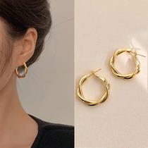 2021 new ear buckle earrings Femininity French high-end earrings Niche design sense ear ring drop earrings 2020 tide