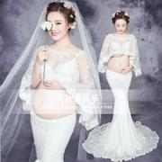 248 rental of pregnant women according to the white lace beautiful fairy children clothing studio photo shoot photos of pregnant women