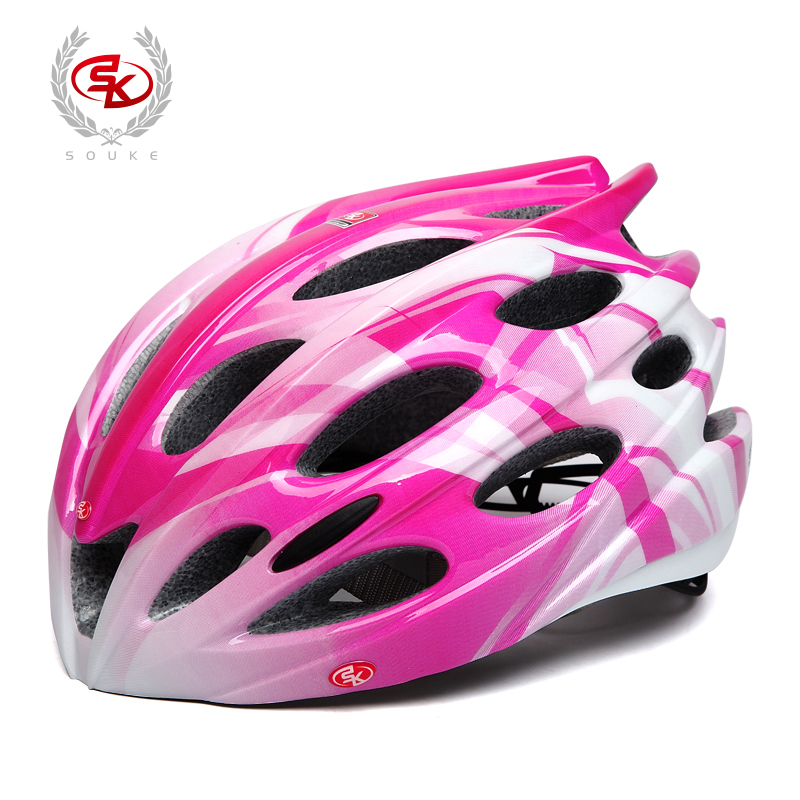 Female Bike Helmets Formed in One Form for Seaker Riding Helmets Female Riding Equipments for Highway Vehicles in Three Places