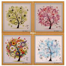 Hot Sale DIY Cross Stitch Painting Colorful Four Season Tree