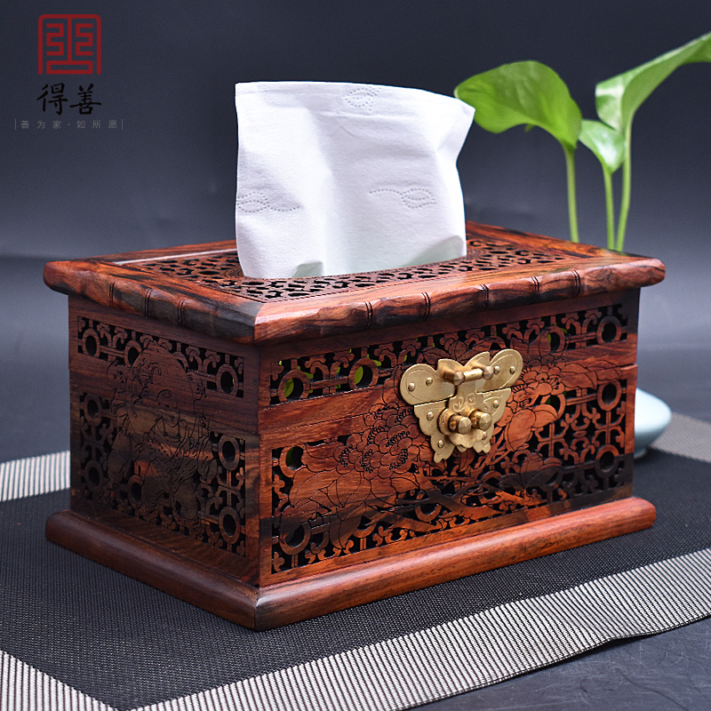 Creativity of Dahongzhi Solid Wood Towel Box Living Room