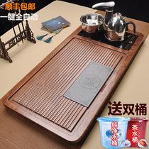 Fully automatic tea set set home living room kung fu solid wood tea tray tea table large tea kettle one complete set