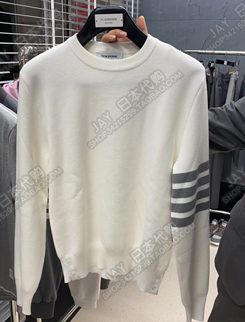 Thom Browne Japan 20 autumn winter TB 槓 mens and womens style collared wool sweater