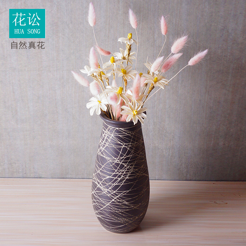 Dry flower bouquet vase household living room decoration simple fashion natural flowers small fresh