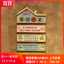 Childrens room inspirational slogan listed good childrens home rules home training room study students self-discipline incentive text pendant
