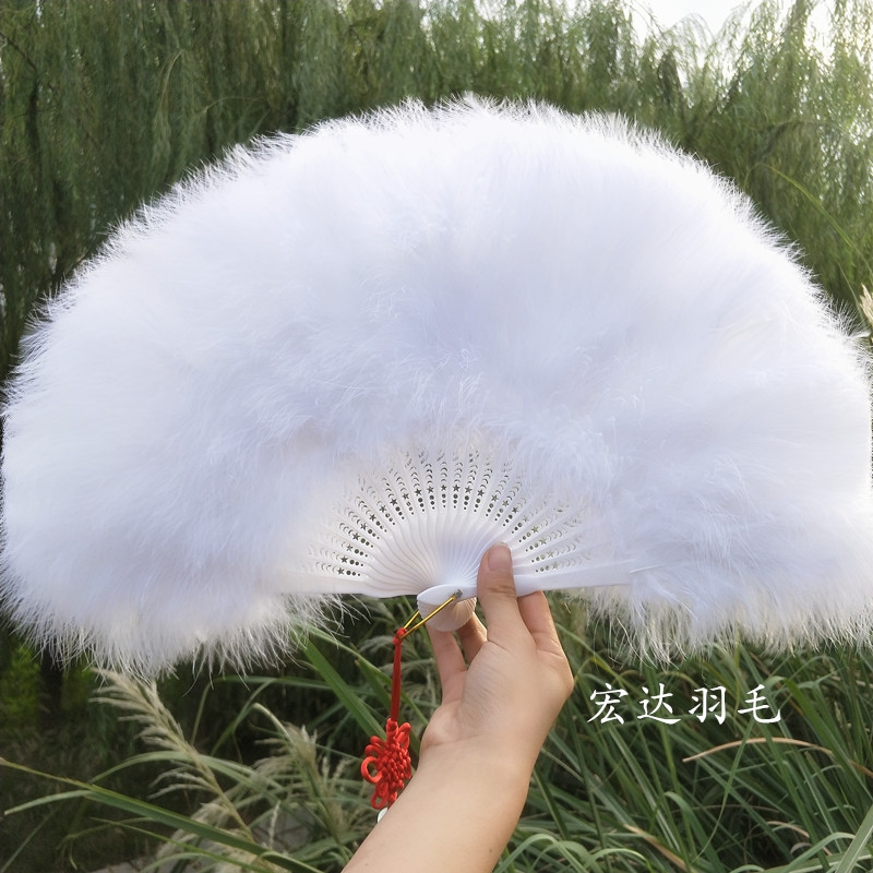 Radic Performing Excellent Full-fleece Thickening Craft Fan Standard Fan Cheongsam Performing Feather