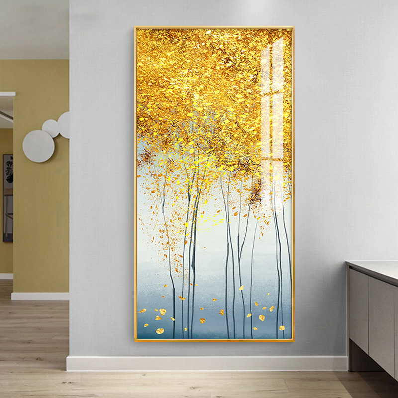 Rich Tree Modern Lightweight and Luxurious Vault Decorative Paintings Passage Crystal Porcelain Abstract Simple Nordic Corridor Wall Painting