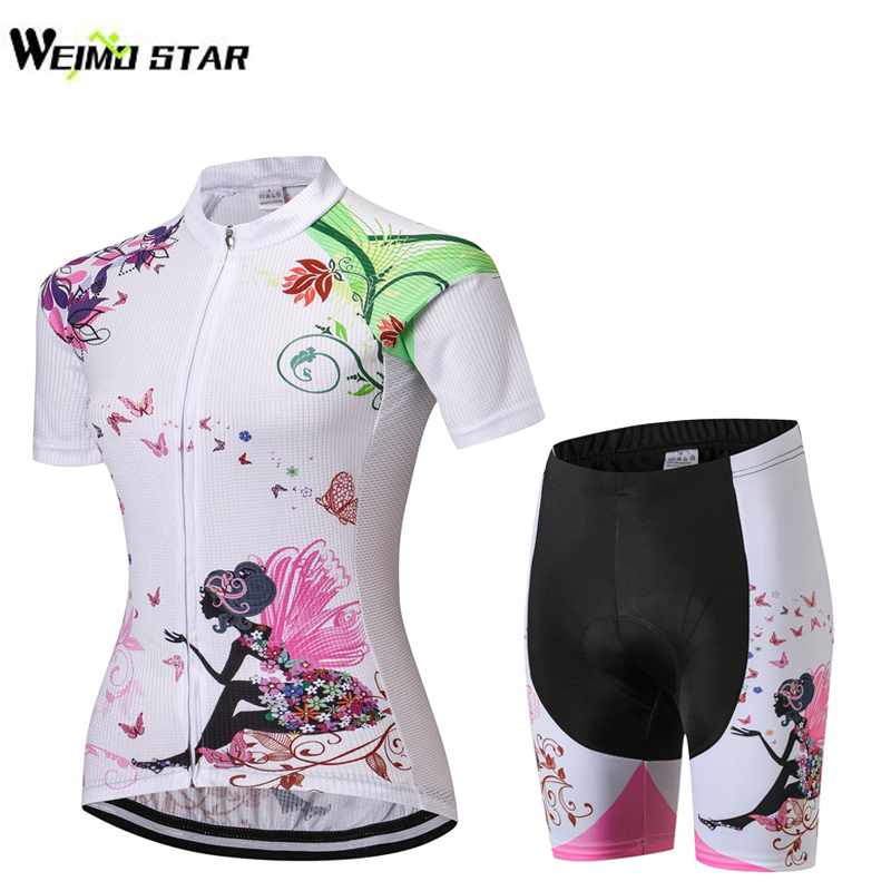 Weimostar Summer Cycling Clothes Short Sleeve Short Pants Female Suit Cycling Clothes Short Suit Packaging