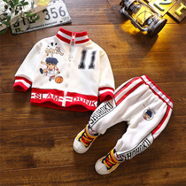 Baby spring 2020 new baby boy two-piece handsome boy sports suit spring and autumn models