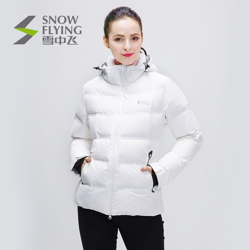 [Shopping mall with the same paragraph] snow flying new down jacket female thick waterproof warm ski jacket A1621YY122