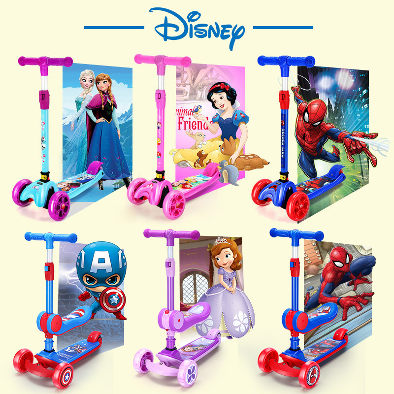 Disney scooter, one-legged child, two girls, baby, 3-12 years old, six-wheeled, five children, scooter, scooter, scooter, scooter, scooter, scooter, scooter, scooter, scooter, scooter and scooter