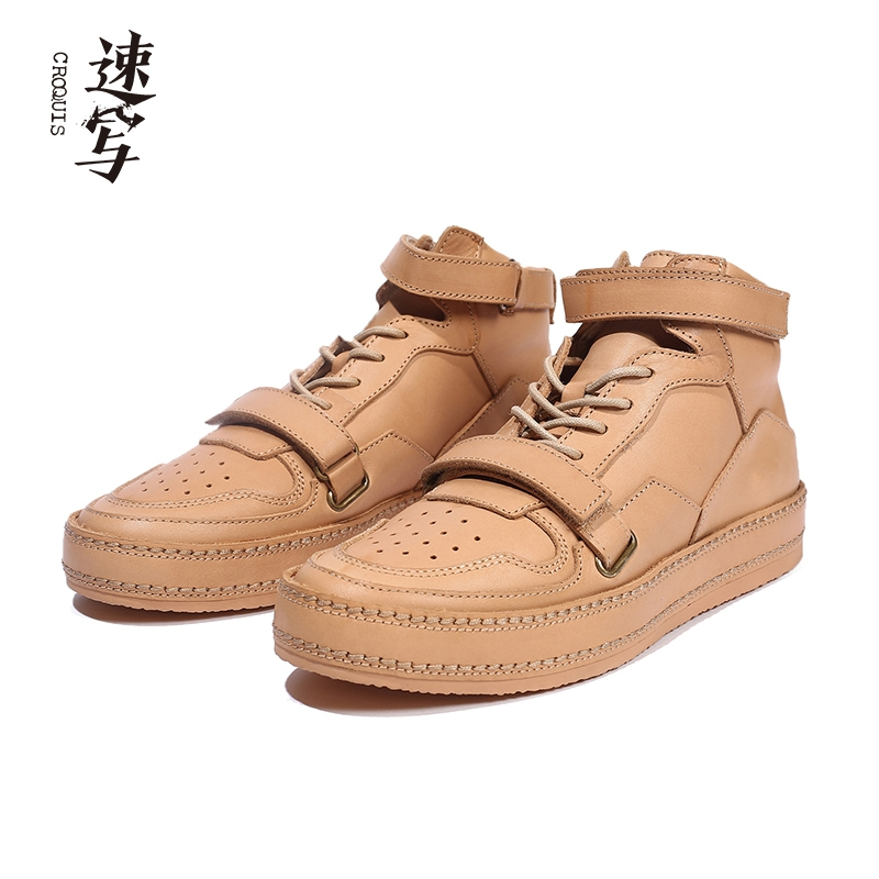 Sketch men's spring and autumn discounts, new low-top laces, convenient and handsome, retro trendy casual fashion high-top sneakers