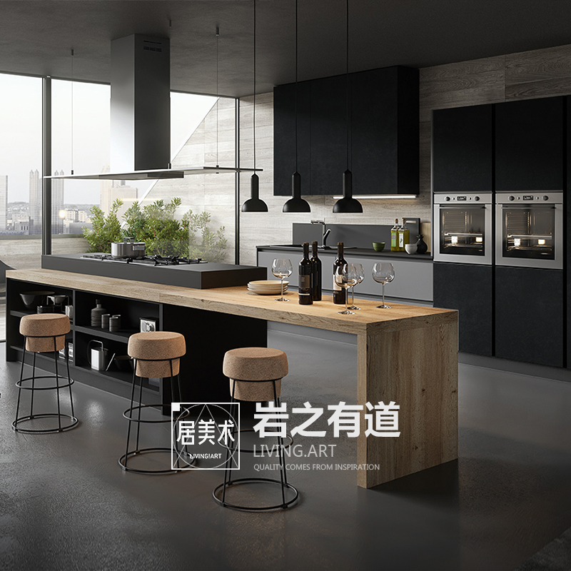Chengdu Art Cabinet Customized Whole Kitchen Cabinet Customized Rock Plate Open Kitchen Full House Customized