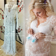 Pregnant women to take photos of the clothing studio portrait photography clothing eyelashes Lace Sexy Dress Dress