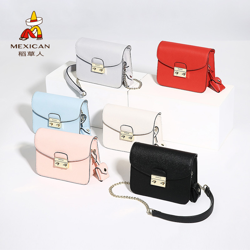 Scarecrow handbag 2018 new female shoulder Messenger bag Korean version of the chain fashion small bag flagship store official website