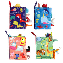 New three-dimensional baby early education cloth book Parent-child interaction paper baby can not tear the dinosaur ocean tail cloth book toy